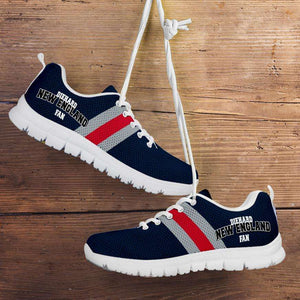 Designs by MyUtopia Shout Out:Diehard New England Fan Running Shoes,Kid's / 11 CHILD (EU28) / Nautical Blue,Running Shoes