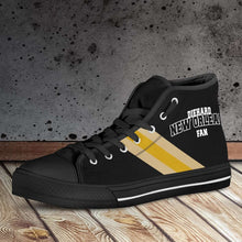 Load image into Gallery viewer, Designs by MyUtopia Shout Out:Diehard New Orleans Fan Canvas High Top Shoes