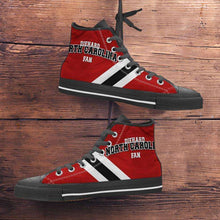 Load image into Gallery viewer, Designs by MyUtopia Shout Out:Diehard North Carolina Fan Canvas High Top Shoes