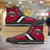 Designs by MyUtopia Shout Out:Diehard Oklahoma Sooners Fan Canvas High Top Shoes,Men's / Mens US 5 (EU38) / Crimson,High Top Sneakers