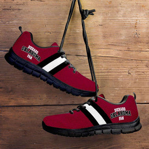 Designs by MyUtopia Shout Out:Diehard Oklahoma Sooners Fan Running Shoes,Kid's / 11 CHILD (EU28) / Crimson,Running Shoes