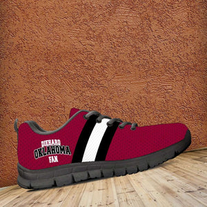 Designs by MyUtopia Shout Out:Diehard Oklahoma Sooners Fan Running Shoes