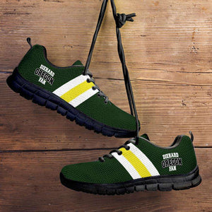 Designs by MyUtopia Shout Out:Diehard Oregon Fan Running Shoes,Kid's / 11 CHILD (EU28) / Green/Yellow,Running Shoes