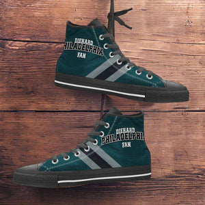 Designs by MyUtopia Shout Out:Diehard Philadelphia Fan Canvas High Top Shoes