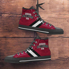 Load image into Gallery viewer, Designs by MyUtopia Shout Out:Diehard Stanford Fan Canvas High Top Shoes