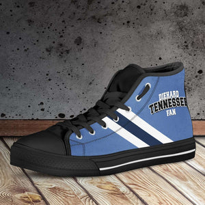 Designs by MyUtopia Shout Out:Diehard Tennessee Titans Fan Canvas High Top Shoes