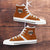 Designs by MyUtopia Shout Out:Diehard Texas Fan Canvas High Top Shoes,Men's / Mens US 5 (EU38) / Orange,High Top Sneakers