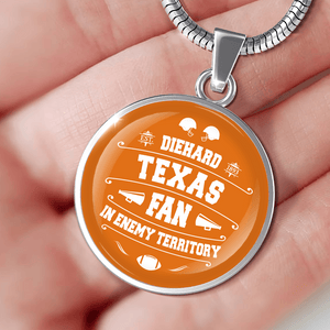 Designs by MyUtopia Shout Out:Diehard Texas Fan in Enemy Territory Handcrafted Necklace
