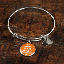 Load image into Gallery viewer, Designs by MyUtopia Shout Out:Diehard Texas Fan In Enemy Territory Handmade Wire Bracelet