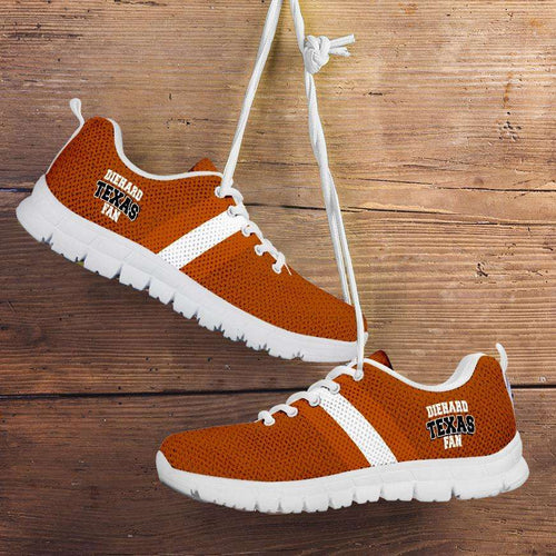 Designs by MyUtopia Shout Out:Diehard Texas Fan Running Shoes Orange,Kid's / 11 CHILD (EU28) / Texas,Running Shoes