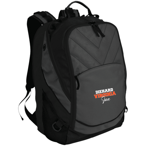Designs by MyUtopia Shout Out:Diehard Virginia Fan Embroidered Port Authority Laptop Computer Backpack,Dark Charcoal/Black / One Size,Backpacks