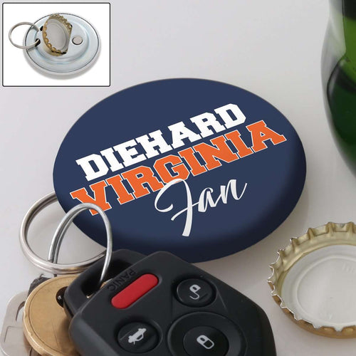 Designs by MyUtopia Shout Out:Diehard Virginia Fan Magnetic Keychain with Bottle Opener