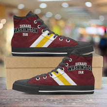 Load image into Gallery viewer, Designs by MyUtopia Shout Out:Diehard Washington Redskins Fan Canvas High Top Shoes,Men's / Mens US 5 (EU38) / Red,High Top Sneakers