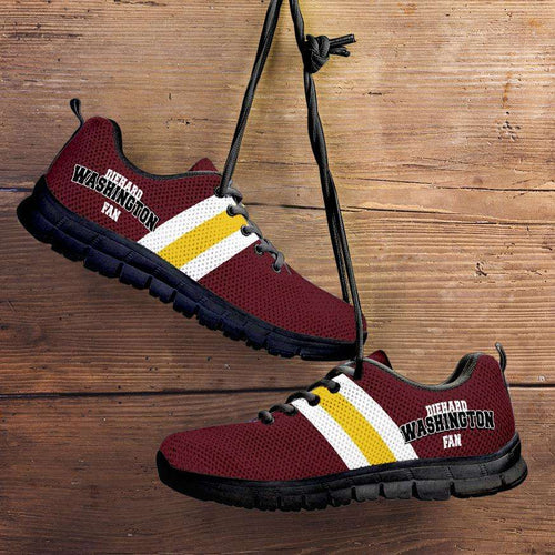 Designs by MyUtopia Shout Out:Diehard Washington Redskins Fan Running Shoes,Child 11 (EU28) / Burgundy,Running Shoes
