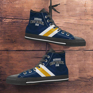 Designs by MyUtopia Shout Out:Diehard West Virginia Fan Canvas High Top Shoes