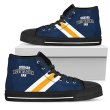 Load image into Gallery viewer, Designs by MyUtopia Shout Out:Diehard West Virginia Fan Canvas High Top Shoes