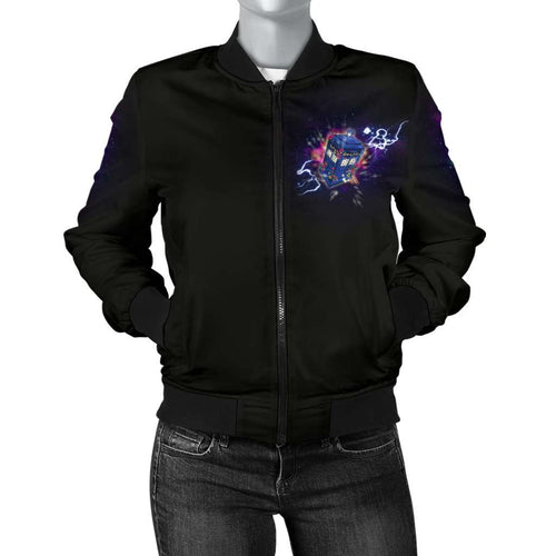 Designs by MyUtopia Shout Out:Doctor Who 13th Doctor TARDIS Women's Bomber Jacket