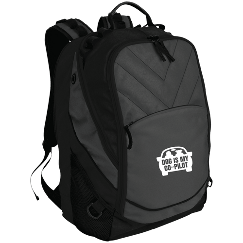 Designs by MyUtopia Shout Out:Dog is My Co-Pilot Laptop Computer Backpack,Dark Charcoal/Black / One Size,Backpacks