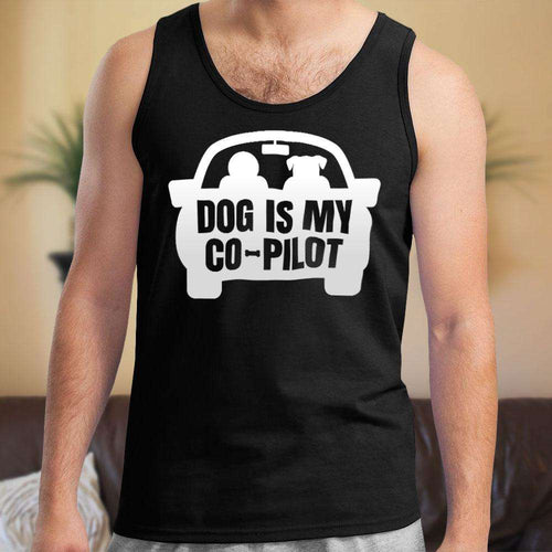 Designs by MyUtopia Shout Out:Dog is My Co-Pilot Unisex Tank Top