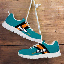 Load image into Gallery viewer, Designs by MyUtopia Shout Out:#Dolfan Miami Fan Running Shoes,Kid's / 11 CHILD (EU28) / Aqua Green,Running Shoes