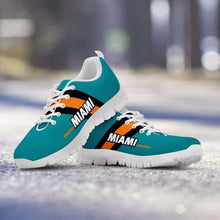 Load image into Gallery viewer, Designs by MyUtopia Shout Out:#Dolfan Miami Fan Running Shoes