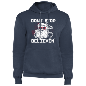 Designs by MyUtopia Shout Out:Don't Stop Believin - Core Fleece Unisex Pullover Hoodie,Navy / S,Sweatshirts