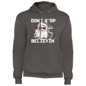 Designs by MyUtopia Shout Out:Don't Stop Believin - Core Fleece Unisex Pullover Hoodie,Charcoal / S,Sweatshirts