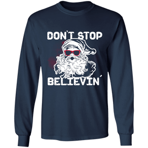 Designs by MyUtopia Shout Out:Don't Stop Believin - Ultra Cotton Long Sleeve T-Shirt,Navy / S,Long Sleeve T-Shirts