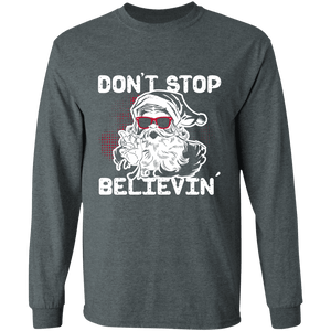 Designs by MyUtopia Shout Out:Don't Stop Believin - Ultra Cotton Long Sleeve T-Shirt,Dark Heather / S,Long Sleeve T-Shirts