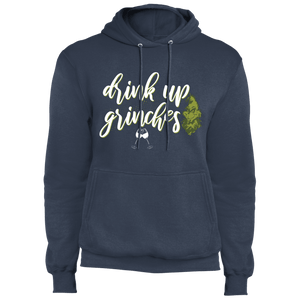 Designs by MyUtopia Shout Out:Drink Up Grinches - Core Fleece Unisex Pullover Hoodie,Navy / S,Sweatshirts