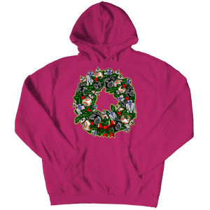 Designs by MyUtopia Shout Out:Droid Wreath Unisex Shirts,Hoodie / Pink / 5XL,Unisex Shirt