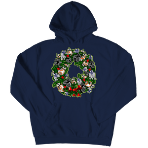 Designs by MyUtopia Shout Out:Droid Wreath Unisex Shirts,Hoodie / Navy / 5XL,Unisex Shirt