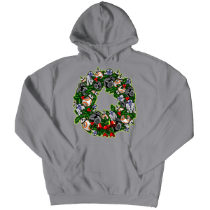 Designs by MyUtopia Shout Out:Droid Wreath Unisex Shirts,Hoodie / Athletic Heather / 5XL,Unisex Shirt