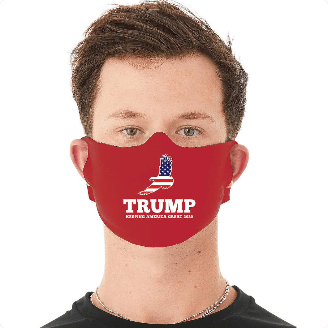 Designs by MyUtopia Shout Out:Eagle Trump Fabric Face Covering / Face Mask,Default Title,Fabric Face Mask