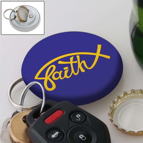 Designs by MyUtopia Shout Out:Faith Fish Magnetic Key chain and bottle opener