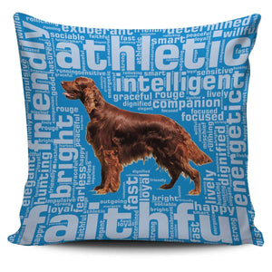 Designs by MyUtopia Shout Out:Faithful Irish Setter Pillowcases,Blue,Pillowcases
