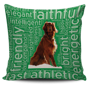 Designs by MyUtopia Shout Out:Faithful Irish Setter Pillowcases,Green,Pillowcases