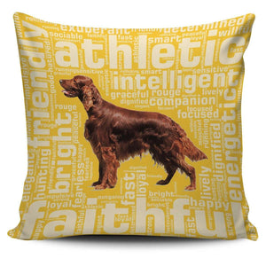 Designs by MyUtopia Shout Out:Faithful Irish Setter Pillowcases,Gold,Pillowcases