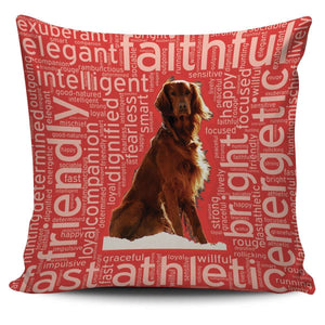 Designs by MyUtopia Shout Out:Faithful Irish Setter Pillowcases,Red,Pillowcases