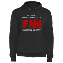 Load image into Gallery viewer, Designs by MyUtopia Shout Out:Fake News Network Trump Humor Core Fleece Pullover Hoodie,S / Jet Black,Pullover Hoodie