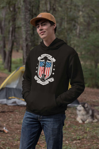 Designs by MyUtopia Shout Out:Fallen Heroes Fallen but Not Forgotten Core Fleece Pullover Hoodie
