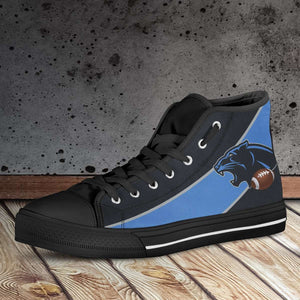 Designs by MyUtopia Shout Out:Fan Art Carolina Canvas High Top Shoes