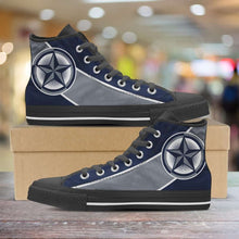 Load image into Gallery viewer, Designs by MyUtopia Shout Out:Fan Art Dallas Cowboys Canvas High Top Shoes