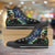 Designs by MyUtopia Shout Out:Fan Art Inspired by Legend of Zelda Video Game Series Canvas High Top Shoes,Men's / Mens US 5 (EU38) / Black/Green,High Top Sneakers