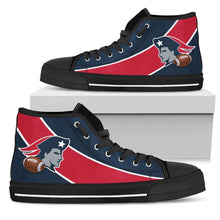 Load image into Gallery viewer, Designs by MyUtopia Shout Out:Fan Art New England Canvas High Top Shoes