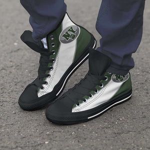 Designs by MyUtopia Shout Out:Fan Art New York Jets Canvas High Top Shoes