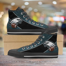 Load image into Gallery viewer, Designs by MyUtopia Shout Out:Fan Art Philadelphia Canvas High Top Shoes