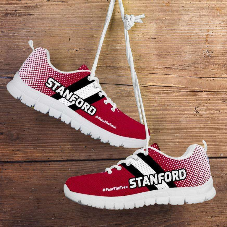 Designs by MyUtopia Shout Out:#FearTheTree Stanford Fan Running Shoes,Kid's / 11 CHILD (EU28) / Cardinal Red,Running Shoes