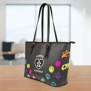 Designs by MyUtopia Shout Out:Florida Veterinary Faux Leather Totebag Purse