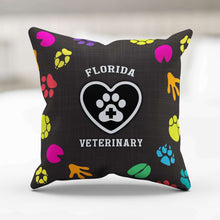 Load image into Gallery viewer, Designs by MyUtopia Shout Out:Florida Veterinary Pillowcase